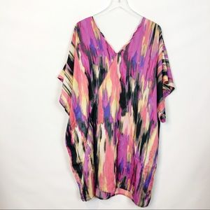 Rachel Roy Multi Abstract Print Kaftan Dress 2X